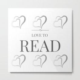 Love to Read Metal Print