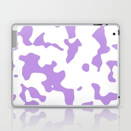 Large Spots - White and Light Violet Laptop & iPad Skin