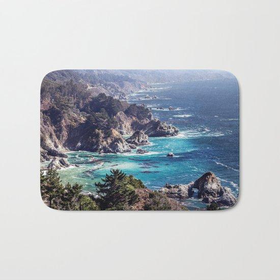 Coastline sea Bath Mat