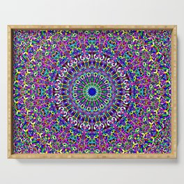 Happy Bohemian Jungle Mandala Serving Tray