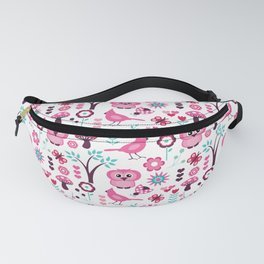 BIRDS AND FOWERS Fanny Pack