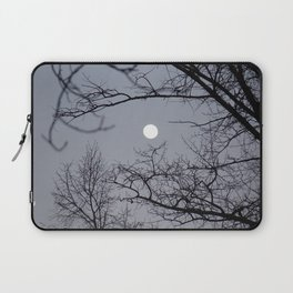 bare tree branches against the moonlit sky Laptop Sleeve