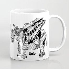 Illustrated Rhino – Union – Black Coffee Mug