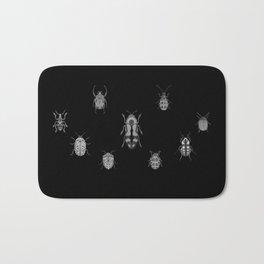 Beautiful Bugs Black Bath Mat