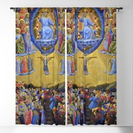 """Fra Angelico (Guido di Pietro) """"The Last Judgement (Winged Altar)"""" Blackout Curtain"""