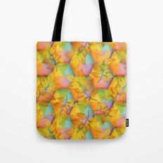 Harlequin Rainbow Leaves Tote Bag