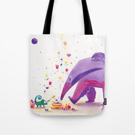 Giant Anteater Print, Anteater Art with Chameleon Tote Bag