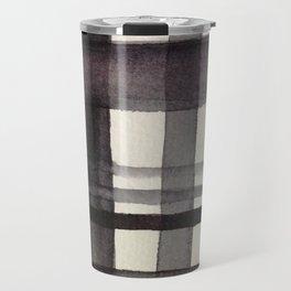Painterly Plaid Travel Mug