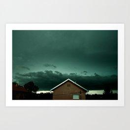 Croatian Thunderstorm Art Print