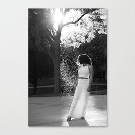 Woman in sunlight Canvas Print