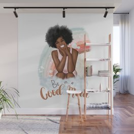 Cloud Illustration | Be In A Good Mood | African American Wall Mural