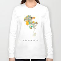 los angeles Long Sleeve T-shirts featuring Los Angeles by Nicksman