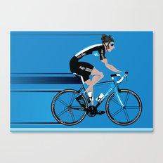 Bradley Wiggins Team Sky Canvas Print