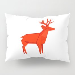 Origami Deer Pillow Sham
