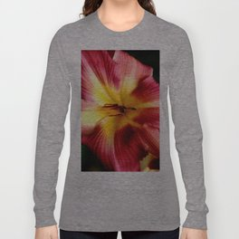 Maroon Day Lily Long Sleeve T-shirt
