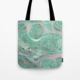 Turquoise Marble Abstract Art Tote Bag
