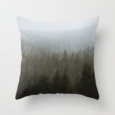 Snowy Forks Forest Throw Pillow