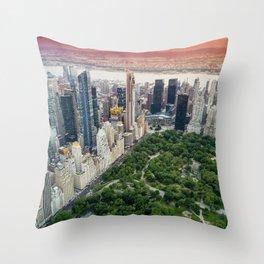 Central Park, New York City Throw Pillow