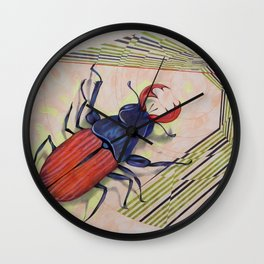 The measurement of space / stag-beetle Wall Clock