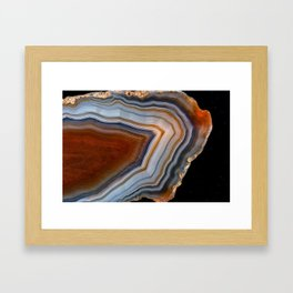 Layered agate geode 3163 Framed Art Print