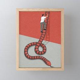 Ladder of success Framed Mini Art Print