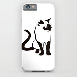 Siamese Cat Design iPhone Case