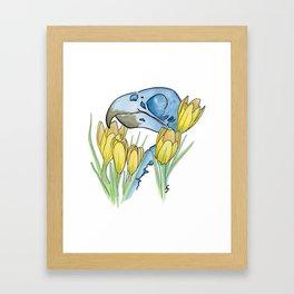 The Parakeet and The Crocus Framed Art Print