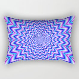 Psychedelic Pulse in Blue and Pink Rectangular Pillow