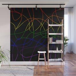 Abstract Threads – LGBTQ Pride Flag Wall Mural