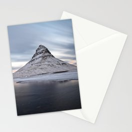 KIRKJUFELL MOUNTAIN WINTER SUNSET ICELAND LANDSCAPE Stationery Cards