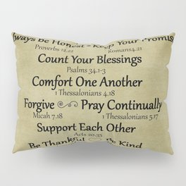 Christian Faith Family Rules w/Scripture Reference Pillow Sham
