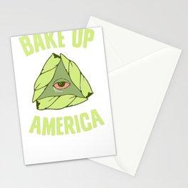 BAKE UP AMERICA T-SHIRT Stationery Cards