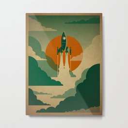 The Voyage (Green) Metal Print