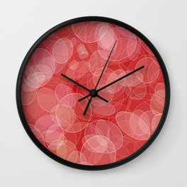 Bokeh style love valentine's texture. Wall Clock