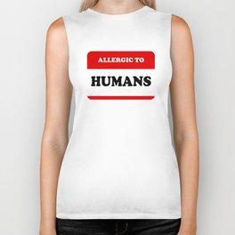 Allergic To Humans Biker Tank