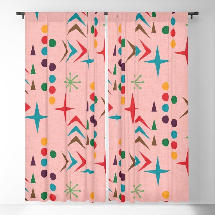 Atomic Pattern Mid Century Modern Homedecor Blackout Curtain By Susycosta
