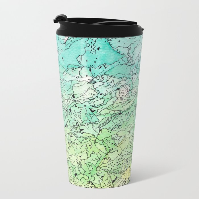 Between The Earth and Sky Metal Travel Mug