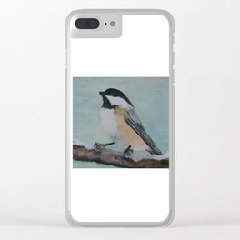 Black Capped Chickadee Clear iPhone Case