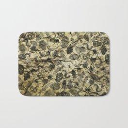 Pattern inked on rock Bath Mat