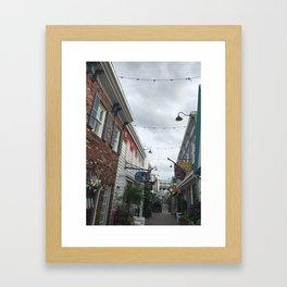 Hidden Alleyway Framed Art Print