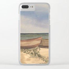 Beach Getaway Clear iPhone Case