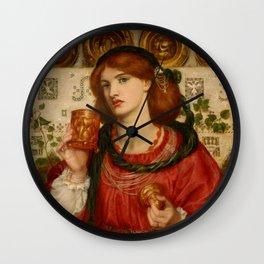 "Dante Gabriel Rossetti ""The Loving Cup"" Wall Clock"
