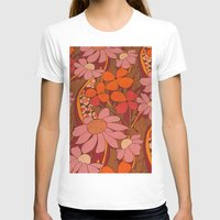 50s T-shirts featuring Crazy pinks 50s Flower  by Follow The White Rabbit