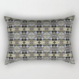 Peekamoose Waterfall Rocks Pattern Rectangular Pillow