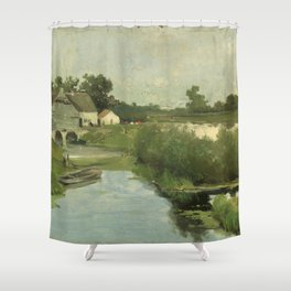 Summer Day By Johan Hendrik Weissenbruch   Reproduction Shower Curtain