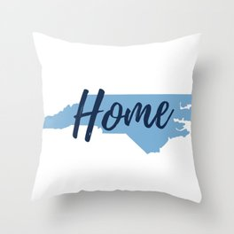 North Carolina Home State Map Print Throw Pillow