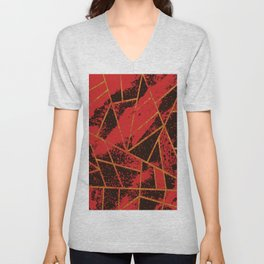 Abstract #942 Unisex V-Neck