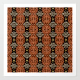 Brahma Play - (Rust - Ceylon Yellow - Almond Buff) Art Print