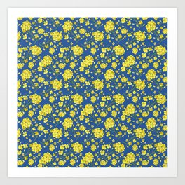 Floral Love of Mustard Art Print
