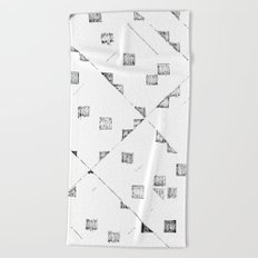 Graffio Bianco e nero Beach Towel